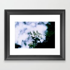 Green Bokeh Framed Art Print