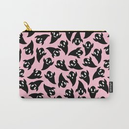 Black Ghosts on Pink Carry-All Pouch