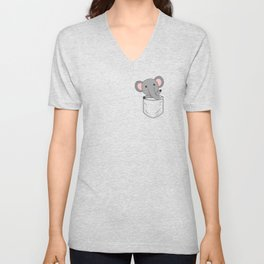 Elephant Zoo Animals Elephants Cute Animals Breast Unisex V-Neck