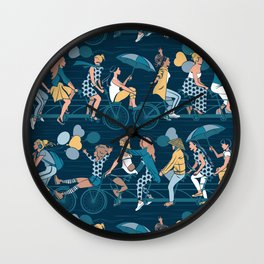 Sisterly riding the world together Wall Clock