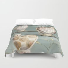 Cats in Cups Duvet Cover