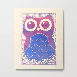Wide Eyed Owl Metal Print