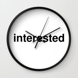 interested Wall Clock