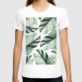 Tropical Banana Leaves Vibes #1 #foliage #decor #art #society6 T-shirt