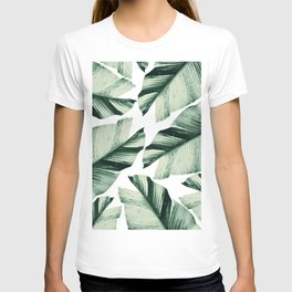 Tropical Banana Leaves Vibes #1 #foliage #decor #art #society6 T-shirt