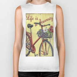 Life Is A Journey Biker Tank