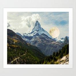 Wander trip sets the Moon Art Print