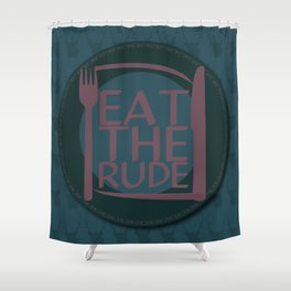 Eat The Rude (Navy) Shower Curtain
