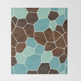 Geode in Blue Throw Blanket