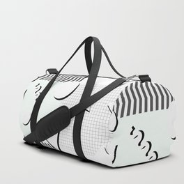 Pale 80s Pattern Duffle Bag