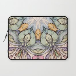 vintage flowers hand drawn and  kaleidoscope mandala Laptop Sleeve
