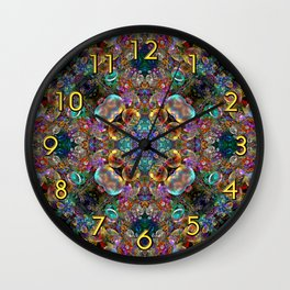 Kaleidoscope of Bubbles  Wall Clock