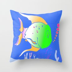 m e g a f i s h Throw Pillow