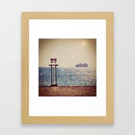 Winter Ferry Framed Art Print