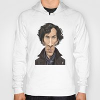 benedict cumberbatch Hoodies featuring Celebrity Sunday ~ Benedict Cumberbatch by rob art | illustration