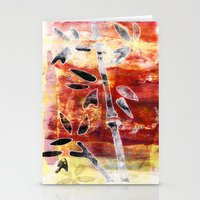 bamboo Stationery Cards featuring bamboo by Kras Arts - Fly Me To The Moon