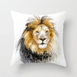 African Lion Male Throw Pillow
