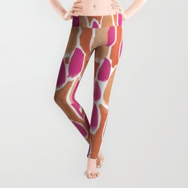 Orange and pink blobs Leggings