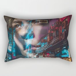 China America double exposure Rectangular Pillow