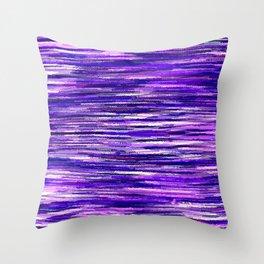 Purple Wavy Stripes Throw Pillow