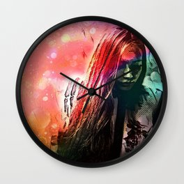 Walking Away From The Lights Of Never Wall Clock