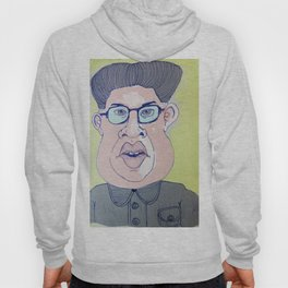 Caricature of Kim Jong-il Hoody