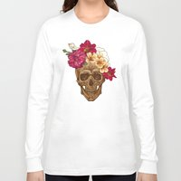 animal skull Long Sleeve T-shirts featuring Skull by eARTh