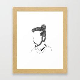 Not a Man Bun Framed Art Print