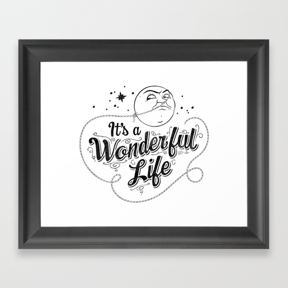 It's A Wonderful Life 2 Framed Art Print by Graphicsbyhand FRM8679306