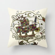 My Father was a Sailor, and My Mother, a Quilter Throw Pillow