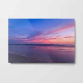 Pink Clouds and Water Metal Print