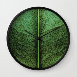 Leafy Green Wall Clock
