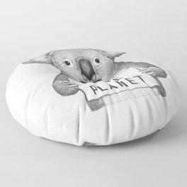 Koala save the planet Floor Pillow