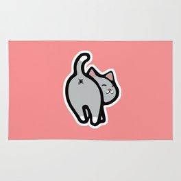 Bitmoji Cat Butt Shirt Rug