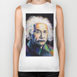 Albert Einstein Biker Tank