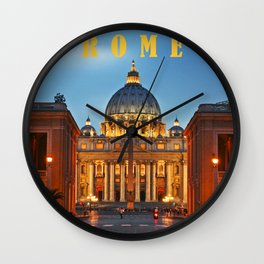 SAINT PETER'S CATHEDRALE in ROME Wall Clock