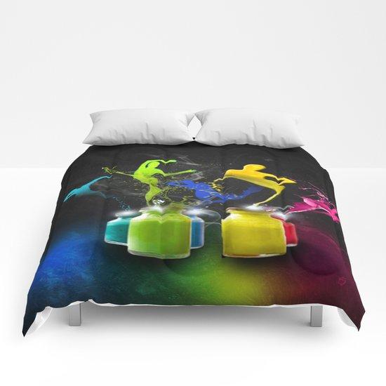 Paint Dancers Comforters