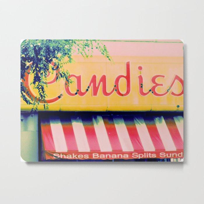 Margie's Candies ~ vintage ice cream parlor sign Metal Print