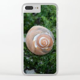 Shell on Moss Clear iPhone Case