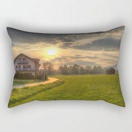 Saint Lorenz Austrian Alps Sunset Rectangular Pillow