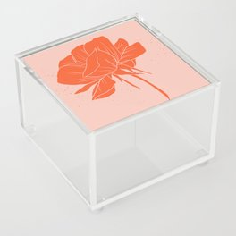 Red-Orange Peony Acrylic Box