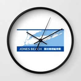 Jones Beach - New York. Wall Clock