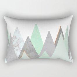 MINT COPPER MARBLE GRAY GEOMETRIC MOUNTAINS Rectangular Pillow