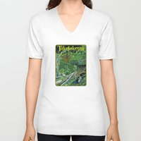 giants V-neck T-shirts featuring Fallen Giants by Patricia Howitt