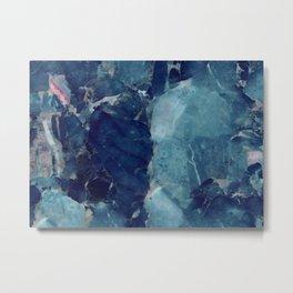Blue Marble Texture Metal Print