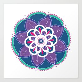 Happiness Is Mandala Art Print