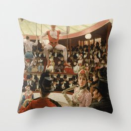 James Tissot - Women of Paris the circus lover Throw Pillow