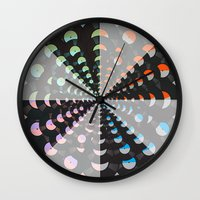 records Wall Clocks featuring Records by Ornaart