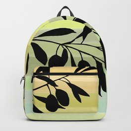 Olive branch over rainbow background Backpack