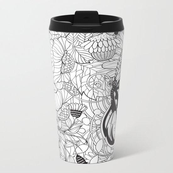Butterfly garden Metal Travel Mug